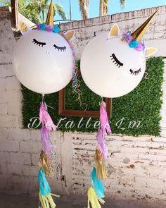 Unicorn party decorations giant balloons #unicorns #balloon