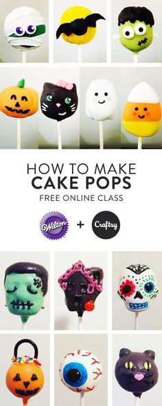 Learn how to make cute cake pops for any occasion - even Halloween! Our online class will teach you everything you need to know for perfect pops every time. Create and account and enroll for free to learn beginner techniques and sharpen existing skills.