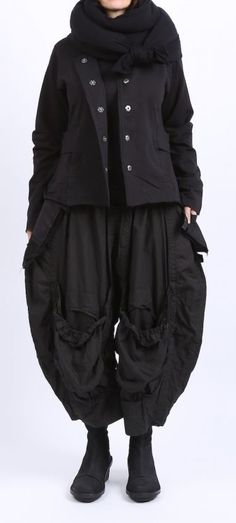 barbara speer - Jacke Sweater mit Reißverschlüssen und Volants black - Winter 2016