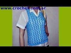Chaleco Express para mujer en tejido crochet - YouTube