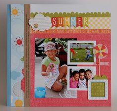 Summer layout by Nancy Damaino