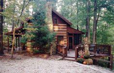 Chimney log cabin in brown county.
