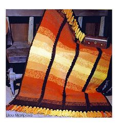 Crochet Pattern Vintage Fringed Afghan-Throw Blanket Afghan Boho Bohemian Home Decor pdf file instructions-Digital Vtg DIY Bag Crochet, Crochet Afgans, Manta Crochet, Crochet Hooks, Free Crochet, Crochet Blankets, Crochet Rugs, Crochet Things, Tunisian Crochet