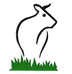 Free Cow Embroidery Design, Free Download Available Only For October 14th at: www.embroideryocean.com