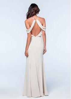 Fantastic Chiffon Halter Neckline A-line Bridesmaid Dress