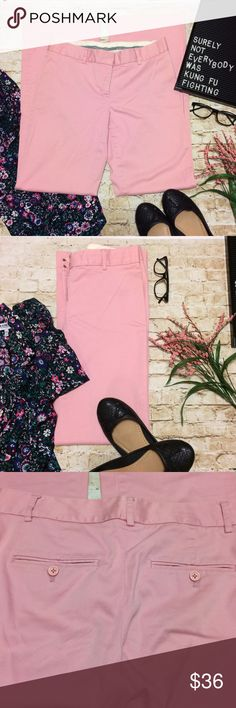Express Editor Trousers / Slacks May I have your attention please!? Has anyone let you in on the secret that your work wardrobe doesn't have to be boring? You can still be bold and professional in these beautiful baby pink slacks. Pair with a floral blouse or a solid black sweater and you're ready to work in style. True to size 4. Great used condition with no stains or holes, etc. comfortable waistband with zipper and hook closure. Two button back pockets. I am quite sad that I've grown out…