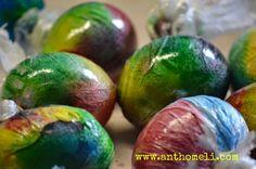 Αυγά βαμμένα με χρώματα ζαχαροπλαστικης!