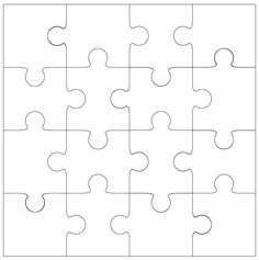 giant blank puzzle pieces invitation templates autism puzzle