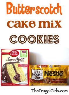 Butterscotch Cake Mix Cookie Recipe from TheFrugalGirls.com