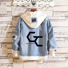 Guilty Crown Anime YUZURIHA INORI Jeans hoodie Coat - wearGG Guilty Crown, Jeans And Hoodie, Denim Jacket Fashion, Boys Shirts, Windbreaker Jacket, Jacket Style, Hoodies, Sweatshirts, Blue Blazers
