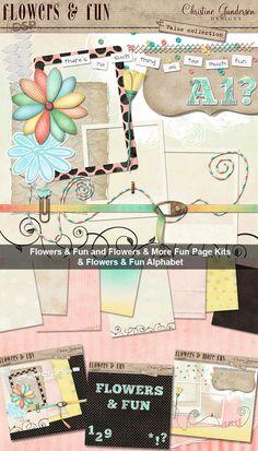 Flowers & Fun Value Collection [DL-CG-LVC-FlowersAndFun] - $8.49 : Digital Scrapbook Place, Inc. , High Quality Digital Scrapbook Graphics