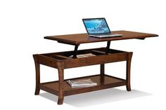 Amish Ensenada Open Lift Top Coffee Table Create more convenience in your living room with a coffee table that does it all! Solid wood and made in America.