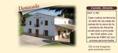 V781 Castalla. Alicante.  Casa rustica en venta http://www.lancoisdoval.es/casas-rurales-en-venta.html