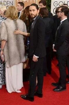 Jared Leto at Golden Gobes 2014 #redcarpet