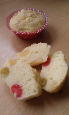 Vickys Fruit Cocktail Cupcakes, Gluten, Dairy, Egg & Soy-Free! My good friend Tinklee posted a delicious fruit cocktail pudding recipe that we've enjoyed a lot. This is my cupcake version of that, altered a wee bit so the kids can take them to school in their packed lunch boxes! @allthecooks #recipe