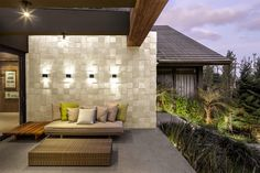 Mosaico Grezzo – Castelatto Outdoor Sofa, Outdoor Furniture, Outdoor Decor, Living Room Decor, Villa, Design, Home Decor, Beach Houses, House Cladding