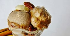 Raw Salted Caramel Banana Pecan Ice Cream