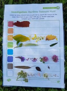 Getting outside AND learning on a Rainbow Treasure Hunt using Twinkl Resources, My Favorite, Colour Activities Eyfs, Rainbow Activities, Seasons Activities, Nursery Activities, Nature Activities, Spring Activities, Preschool Activities, Science Nature, Outdoor Education