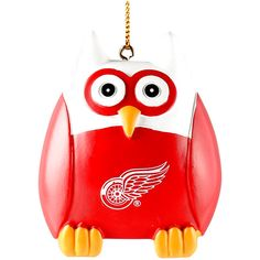 "Detroit Red Wings 2.5"" Owl Ornament - $7.99"