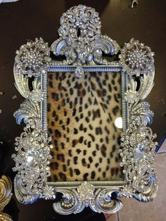 embellished brooch rhinestone frame on etsy 15000