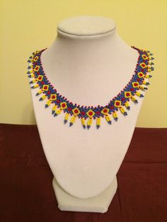 Beautiful Flower Motif Necklace by LovelyNecklaces on Etsy