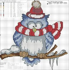 free owl cross stitch patterns | 89d4c66e747d5cd18216b189e4eacbac.jpg 693×700 pixels