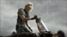 Cloud and Zack. Final Fantasy VII: Crisis core. - This part killed me at the ending of this game. I play it so many times over and over again and it still hurts seeing that scene. Zack Fair is a great character and so is Cloud Strife!