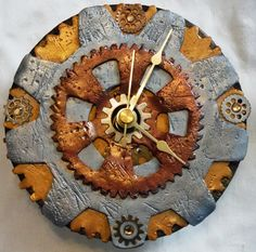 Steampunk inspired Clock for the 2015 #PavelkaProject by Debbie Walter hosted by @KatersAcres