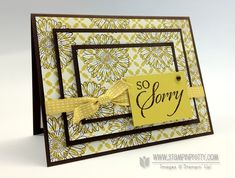 Stampin up demonstrator blog order on line triple time stamping sympathy card idea