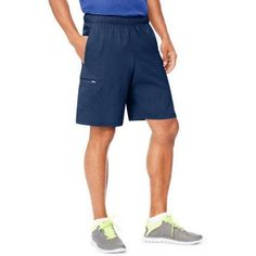 Hanes Sport Men's Hybrid Pocket Shorts, Size: Medium, Blue