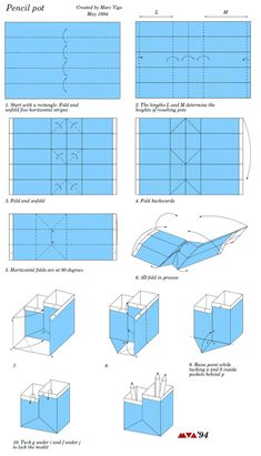 双层笔筒的折纸教程~~~