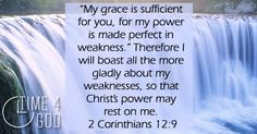 Through the inspiration of the Holy Spirit, Paul has come to the realization, that by giving everything to Christ, not just his strengths, but also his weaknesses, Christ has made him strong, therefore, it is in Christ alone that he can boast