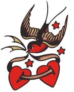 Red Robin Hearts and Stars, Sailor Jerry, T Shirt Design, Rockabilly, Psychobilly, Vulture Graffix, Tattoo Design http://vulturegraffix.onlineshirtstores.com/