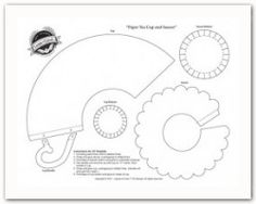 Tea cup templates 3d cup (and also a flat card tea-cup shaped template) from Layers of Colour