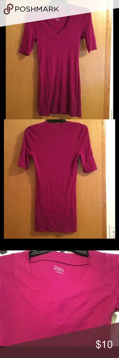 NWOTs! Express Sexy Basic Vee NWOTs Sexy Basic Vee in a purple/pink color. Tunic length. Reasonable offers are welcomed on individual items or bundles. 🚫No low balling. 🚫No trades. Please let me know if you have ANY questions. Make sure you check out my entire closet and take advantage of my bundle discount offer (see listing in my closet for details on how to redeem)! Happy Poshing! 🛍 Express Tops Tunics