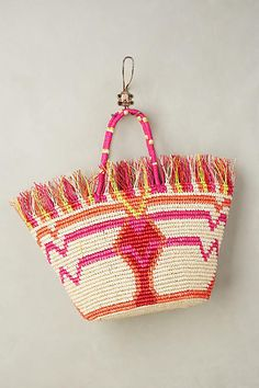 Anthropologie Frayed Maye Tote