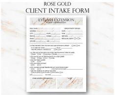 printable customer information form