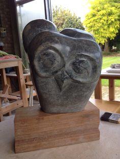 Same owl backside. Sculpture soapstone