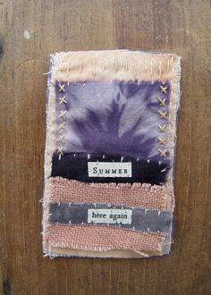 haiku fiber Haiku, Collage Artwork, Art Studios, Textile Art, Linen Fabric, Hand Stitching, Fiber Art, Mixed Media, Fabric Books