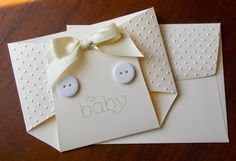 hand crafted baby gift card holder from Laura's Works of Heart ... cute diaper shape ... more photos on her blog ...