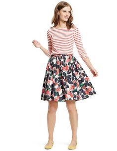 Florence Skirt WG590 Below Knee Skirts at Boden Pretty skirt!