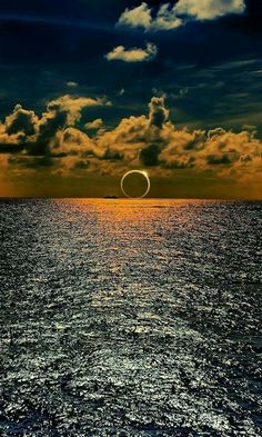 Eclipse over the ocean