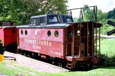 ex PRR N5C Class, 23049 Cambridge OH Preserved as PRR 477965  Sept 13, 1997