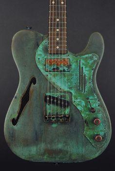 James Trussart Guitars  Titanic Green Deluxe Steelcaster.