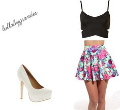 """""""Ariana Grande Inspired Spring Outfit"""" by thearigrandestyles ❤ liked on Polyvore"""