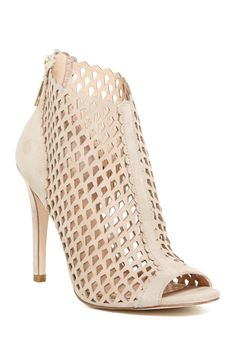 Didia Cutout Cage Open Toe Suede Bootie by Ivanka Trump on @HauteLook