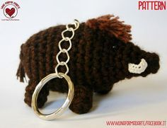 Crochet Pattern Amigurumi Boar in Italian