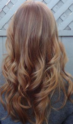 Light golden ginger hair