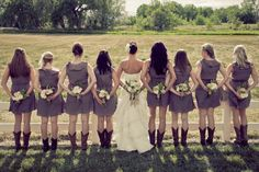 I love this idea for a photo. and the boots. and the flowers. and basically everything about it. haha.  @Lindsay Dillon Bowman