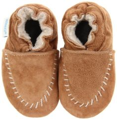 Amazon.com: Robeez Soft Soles Cozy RB43421 Moccasin Crib Shoe (Infant/Toddler),Camel,6-12 Months (2.5-4 M US Infant): Shoes